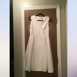 White Double Breasted Chicwish dress with pockets!